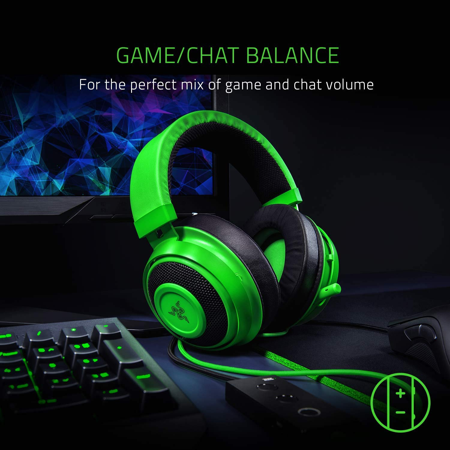 Razer Kraken Tournament Edition: THX Spatial Audio - Full Audio Control -  Cooling Gel-Infused Ear Cushions